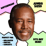 Cool Ben Carson Mask - Perfect for Halloween, Costume Party Mask, Masquerades, Parties, Festivals, Concerts - Jumbo Size Waterproof Laminated Mask