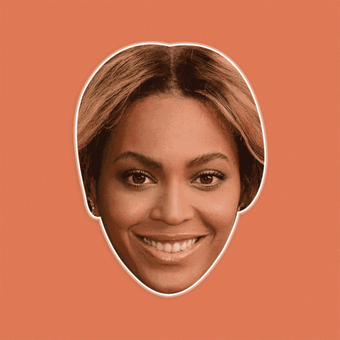Happy Beyonce Mask - Perfect for Halloween, Costume Party Mask, Masquerades, Parties, Festivals, Concerts - Jumbo Size Waterproof Laminated Mask