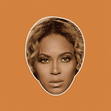 Sad Beyonce Mask - Perfect for Halloween, Costume Party Mask, Masquerades, Parties, Festivals, Concerts - Jumbo Size Waterproof Laminated Mask