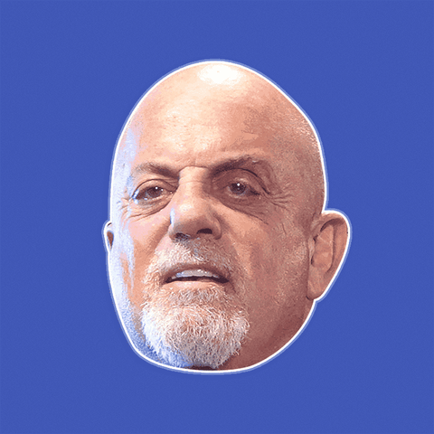 Angry Billy Joel Mask - Perfect for Halloween, Costume Party Mask, Masquerades, Parties, Festivals, Concerts - Jumbo Size Waterproof Laminated Mask