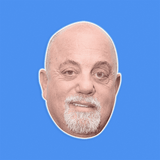 Cool Billy Joel Mask - Perfect for Halloween, Costume Party Mask, Masquerades, Parties, Festivals, Concerts - Jumbo Size Waterproof Laminated Mask