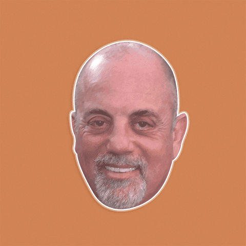 Happy Billy Joel Mask by RapMasks