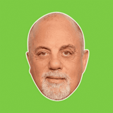 Neutral Billy Joel Mask - Perfect for Halloween, Costume Party Mask, Masquerades, Parties, Festivals, Concerts - Jumbo Size Waterproof Laminated Mask