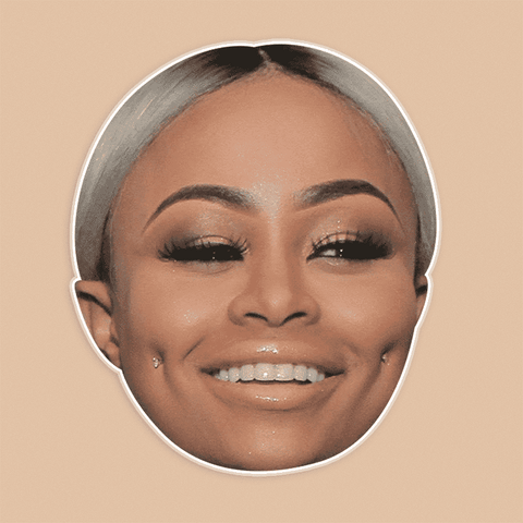 Neutral Blac Chyna Mask - Perfect for Halloween, Costume Party Mask, Masquerades, Parties, Festivals, Concerts - Jumbo Size Waterproof Laminated Mask