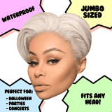 Serious Blac Chyna Mask - Perfect for Halloween, Costume Party Mask, Masquerades, Parties, Festivals, Concerts - Jumbo Size Waterproof Laminated Mask