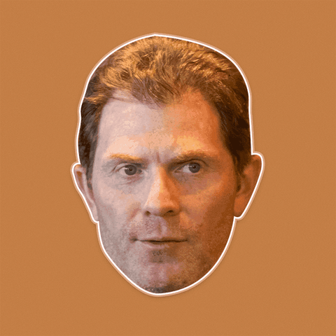 Angry Bobby Flay Mask - Perfect for Halloween, Costume Party Mask, Masquerades, Parties, Festivals, Concerts - Jumbo Size Waterproof Laminated Mask