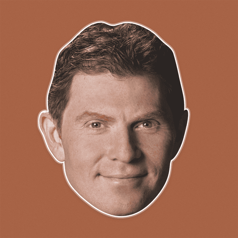 Sexy Bobby Flay Mask - Perfect for Halloween, Costume Party Mask, Masquerades, Parties, Festivals, Concerts - Jumbo Size Waterproof Laminated Mask