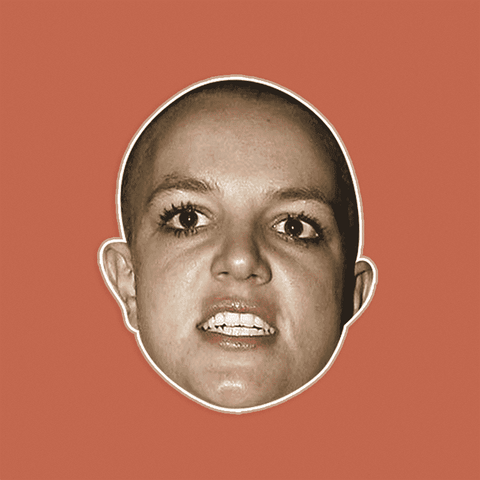 Angry Britney Spears Mask by RapMasks