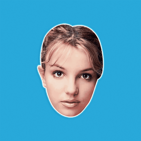 Bored Britney Spears Mask by RapMasks