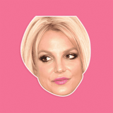Disgusted Britney Spears Mask - Perfect for Halloween, Costume Party Mask, Masquerades, Parties, Festivals, Concerts - Jumbo Size Waterproof Laminated Mask