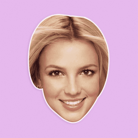 Neutral Britney Spears Mask by RapMasks