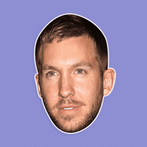 Neutral Calvin Harris Mask - Perfect for Halloween, Costume Party Mask, Masquerades, Parties, Festivals, Concerts - Jumbo Size Waterproof Laminated Mask