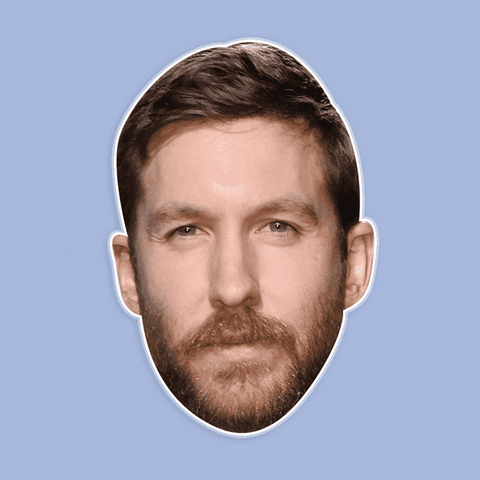 Silly Calvin Harris Mask - Perfect for Halloween, Costume Party Mask, Masquerades, Parties, Festivals, Concerts - Jumbo Size Waterproof Laminated Mask