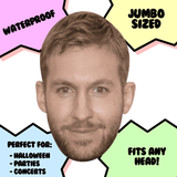 Happy Calvin Harris Mask - Perfect for Halloween, Costume Party Mask, Masquerades, Parties, Festivals, Concerts - Jumbo Size Waterproof Laminated Mask