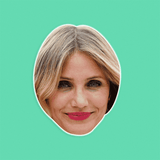 Happy Cameron Diaz Mask - Perfect for Halloween, Costume Party Mask, Masquerades, Parties, Festivals, Concerts - Jumbo Size Waterproof Laminated Mask