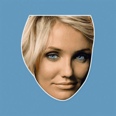 Neutral Cameron Diaz Mask - Perfect for Halloween, Costume Party Mask, Masquerades, Parties, Festivals, Concerts - Jumbo Size Waterproof Laminated Mask