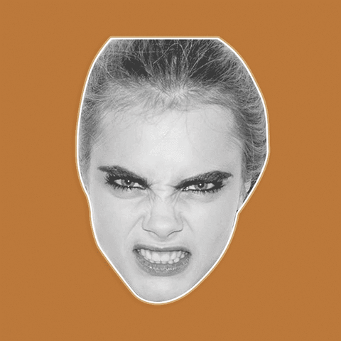 Angry Cara Delevingne Mask by RapMasks