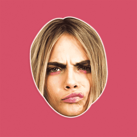 Confused Cara Delevingne Mask by RapMasks