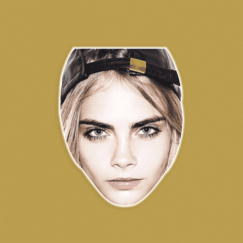Cool Cara Delevingne Mask - Perfect for Halloween, Costume Party Mask, Masquerades, Parties, Festivals, Concerts - Jumbo Size Waterproof Laminated Mask