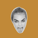 Disgusted Cara Delevingne Mask - Perfect for Halloween, Costume Party Mask, Masquerades, Parties, Festivals, Concerts - Jumbo Size Waterproof Laminated Mask