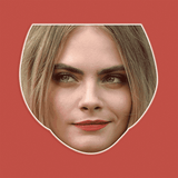 Excited Cara Delevingne Mask - Perfect for Halloween, Costume Party Mask, Masquerades, Parties, Festivals, Concerts - Jumbo Size Waterproof Laminated Mask