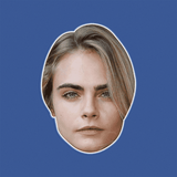 Neutral Cara Delevingne Mask - Perfect for Halloween, Costume Party Mask, Masquerades, Parties, Festivals, Concerts - Jumbo Size Waterproof Laminated Mask