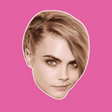 Serious Cara Delevingne Mask - Perfect for Halloween, Costume Party Mask, Masquerades, Parties, Festivals, Concerts - Jumbo Size Waterproof Laminated Mask