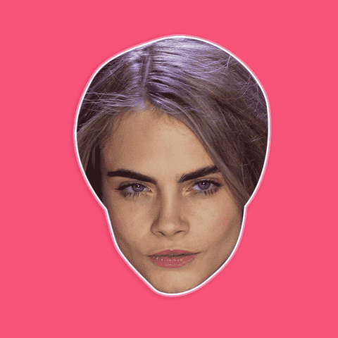 Sexy Cara Delevingne Mask - Perfect for Halloween, Costume Party Mask, Masquerades, Parties, Festivals, Concerts - Jumbo Size Waterproof Laminated Mask