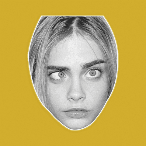 Silly Cara Delevingne Mask - Perfect for Halloween, Costume Party Mask, Masquerades, Parties, Festivals, Concerts - Jumbo Size Waterproof Laminated Mask
