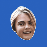 Surprised Cara Delevingne Mask - Perfect for Halloween, Costume Party Mask, Masquerades, Parties, Festivals, Concerts - Jumbo Size Waterproof Laminated Mask
