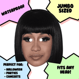 Angry Cardi B Mask - Perfect for Halloween, Costume Party Mask, Masquerades, Parties, Festivals, Concerts - Jumbo Size Waterproof Laminated Mask