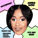 Cool Cardi B Mask - Perfect for Halloween, Costume Party Mask, Masquerades, Parties, Festivals, Concerts - Jumbo Size Waterproof Laminated Mask