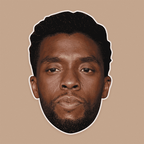 Bored Chadwick Boseman Mask - Perfect for Halloween, Costume Party Mask, Masquerades, Parties, Festivals, Concerts - Jumbo Size Waterproof Laminated Mask