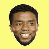 Cool Chadwick Boseman Mask - Perfect for Halloween, Costume Party Mask, Masquerades, Parties, Festivals, Concerts - Jumbo Size Waterproof Laminated Mask