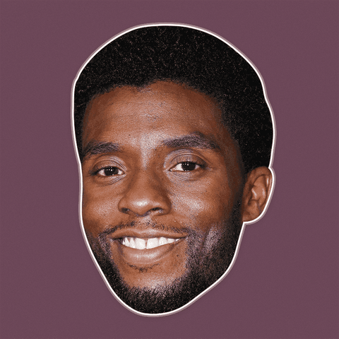 Happy Chadwick Boseman Mask - Perfect for Halloween, Costume Party Mask, Masquerades, Parties, Festivals, Concerts - Jumbo Size Waterproof Laminated Mask