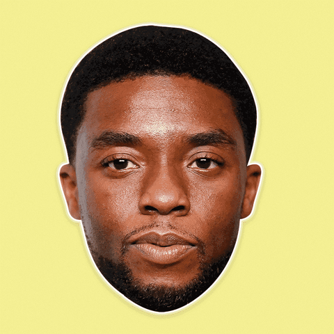 Neutral Chadwick Boseman Mask - Perfect for Halloween, Costume Party Mask, Masquerades, Parties, Festivals, Concerts - Jumbo Size Waterproof Laminated Mask