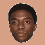 Sad Chadwick Boseman Mask - Perfect for Halloween, Costume Party Mask, Masquerades, Parties, Festivals, Concerts - Jumbo Size Waterproof Laminated Mask