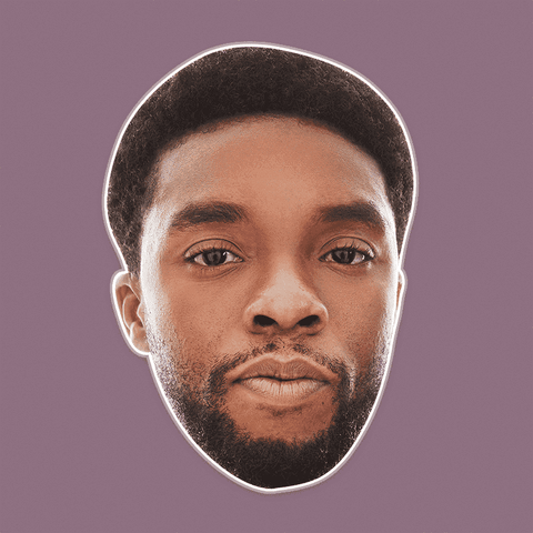 Serious Chadwick Boseman Mask - Perfect for Halloween, Costume Party Mask, Masquerades, Parties, Festivals, Concerts - Jumbo Size Waterproof Laminated Mask