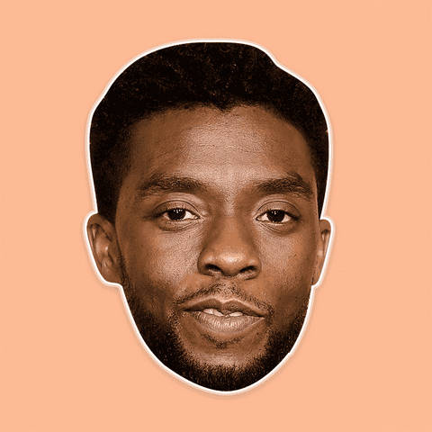 Sexy Chadwick Boseman Mask - Perfect for Halloween, Costume Party Mask, Masquerades, Parties, Festivals, Concerts - Jumbo Size Waterproof Laminated Mask