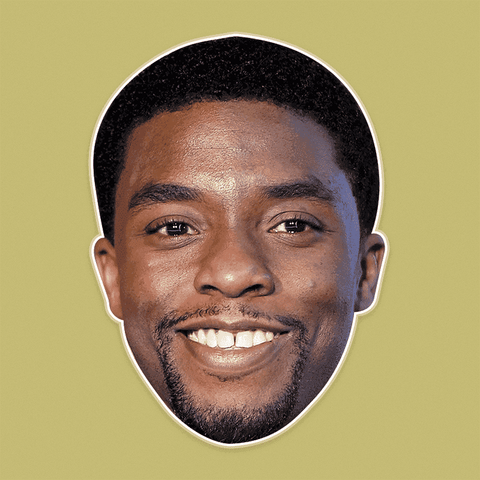 Silly Chadwick Boseman Mask - Perfect for Halloween, Costume Party Mask, Masquerades, Parties, Festivals, Concerts - Jumbo Size Waterproof Laminated Mask