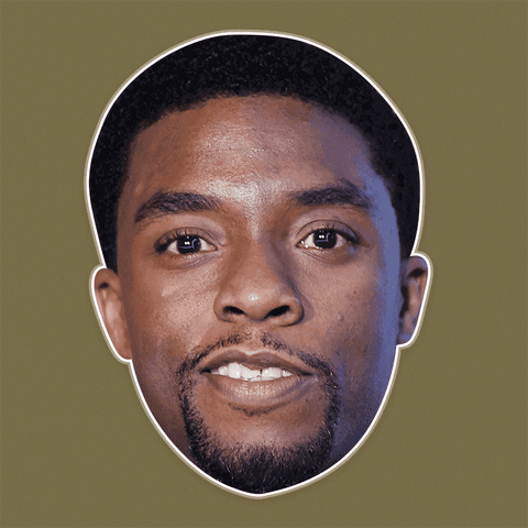 Surprised Chadwick Boseman Mask - Perfect for Halloween, Costume Party Mask, Masquerades, Parties, Festivals, Concerts - Jumbo Size Waterproof Laminated Mask