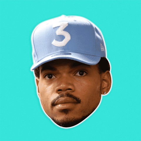 Sad Chance The Rapper Mask - Perfect for Halloween, Costume Party Mask, Masquerades, Parties, Festivals, Concerts - Jumbo Size Waterproof Laminated Mask