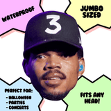 Cool Chance The Rapper Mask - Perfect for Halloween, Costume Party Mask, Masquerades, Parties, Festivals, Concerts - Jumbo Size Waterproof Laminated Mask