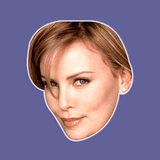 Confused Charlize Theron Mask - Perfect for Halloween, Costume Party Mask, Masquerades, Parties, Festivals, Concerts - Jumbo Size Waterproof Laminated Mask