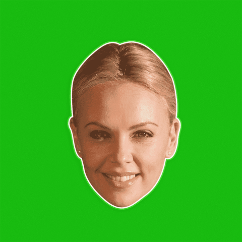 Happy Charlize Theron by RapMasks