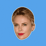 Neutral Charlize Theron Mask - Perfect for Halloween, Costume Party Mask, Masquerades, Parties, Festivals, Concerts - Jumbo Size Waterproof Laminated Mask