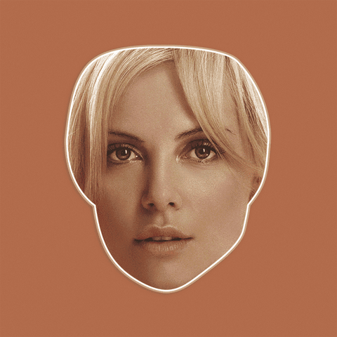 Serious Charlize Theron Mask - Perfect for Halloween, Costume Party Mask, Masquerades, Parties, Festivals, Concerts - Jumbo Size Waterproof Laminated Mask
