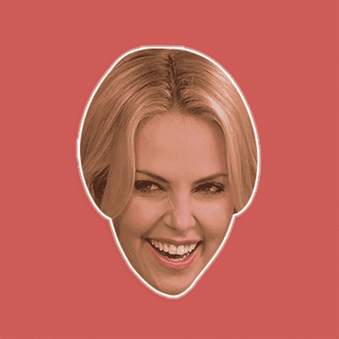 Silly Charlize Theron Mask - Perfect for Halloween, Costume Party Mask, Masquerades, Parties, Festivals, Concerts - Jumbo Size Waterproof Laminated Mask