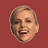 Surprised Charlize Theron Mask - Perfect for Halloween, Costume Party Mask, Masquerades, Parties, Festivals, Concerts - Jumbo Size Waterproof Laminated Mask