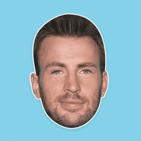 Sexy Chris Evans Mask - Perfect for Halloween, Costume Party Mask, Masquerades, Parties, Festivals, Concerts - Jumbo Size Waterproof Laminated Mask